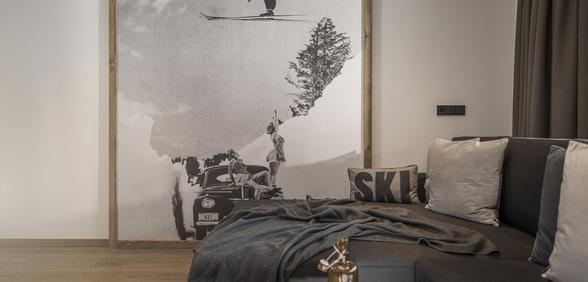 bequemer Liegebereich & Kunst im Apartment Big Lenz