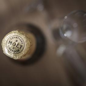 relax and enjoy a glass of Moet in Mayrhofen